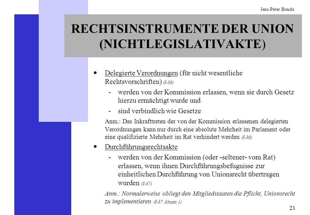 RECHTSINSTRUMENTE DER UNION (NICHTLEGISLATIVAKTE)