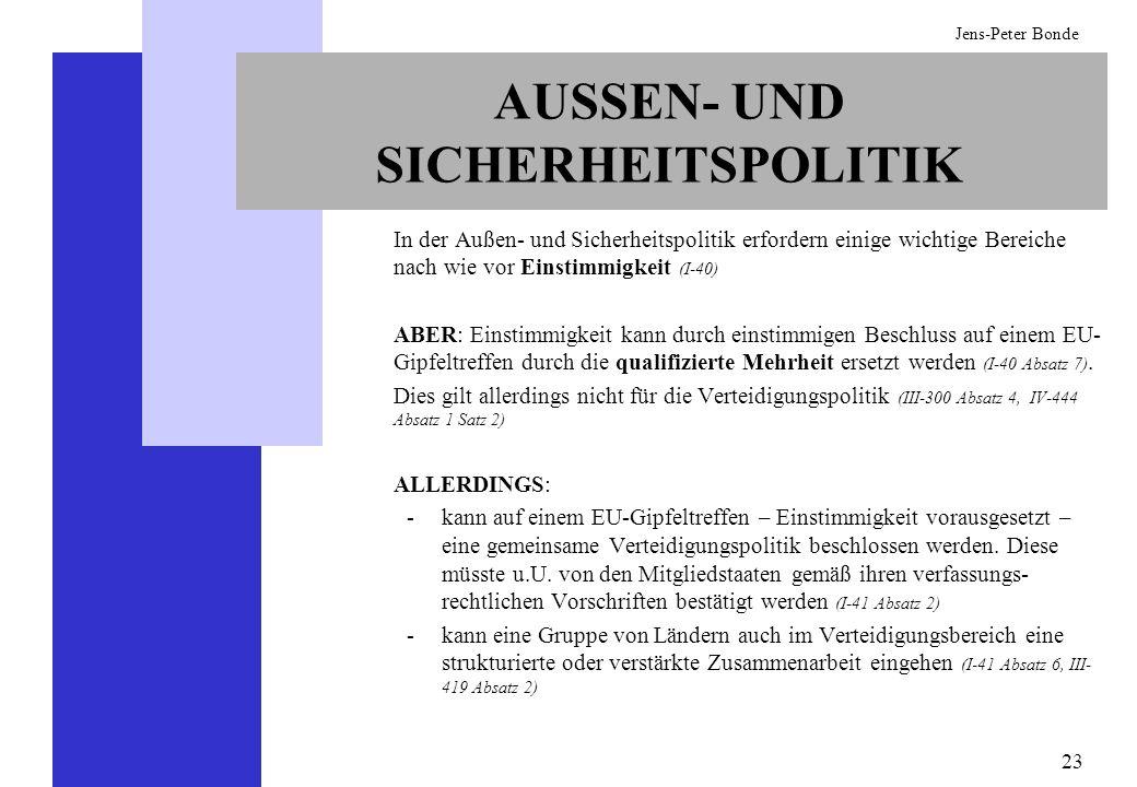 AUSSEN- UND SICHERHEITSPOLITIK