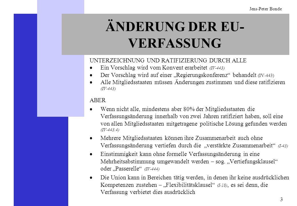 ÄNDERUNG DER EU-VERFASSUNG