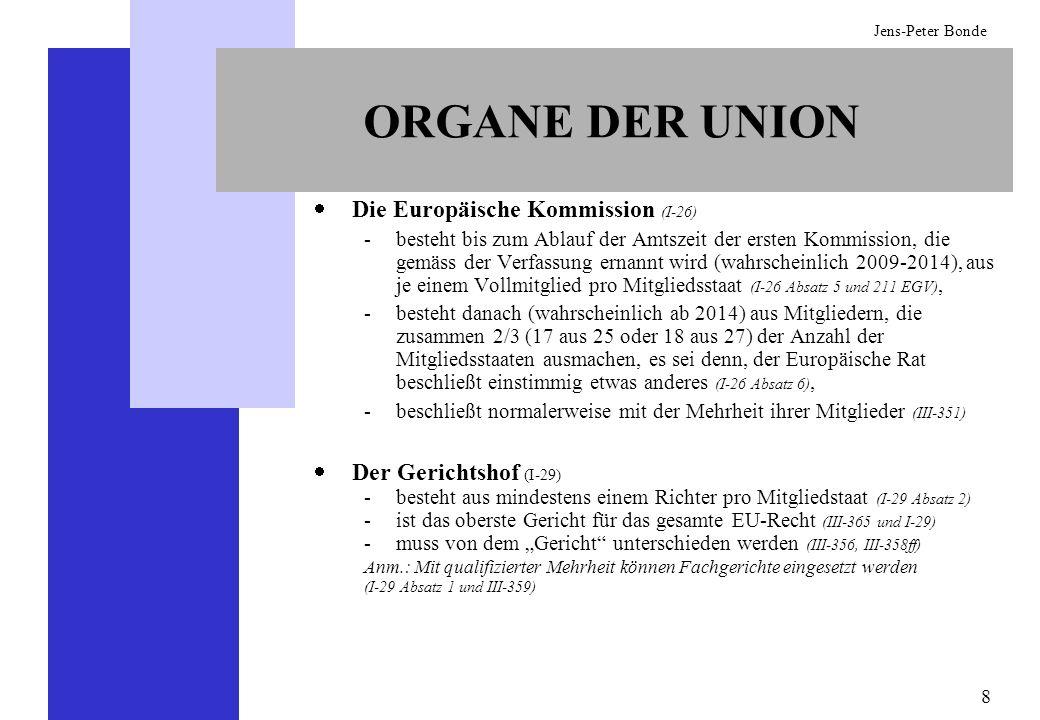 ORGANE DER UNION Die Europäische Kommission (I-26)