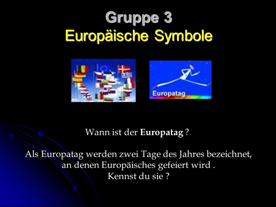 Gruppe 3 Europäische Symbole