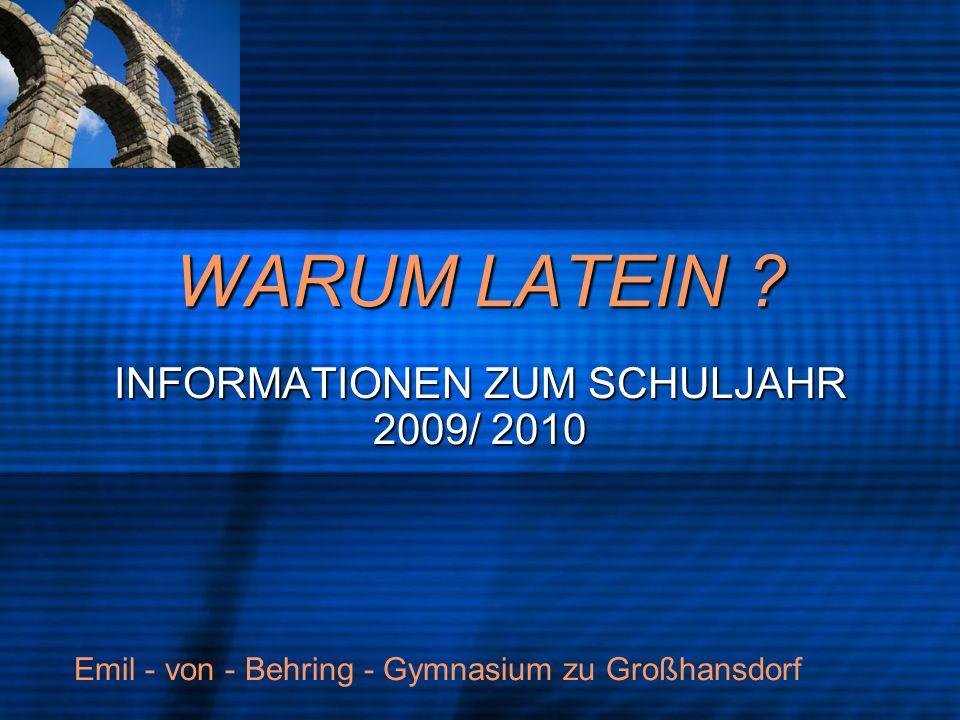 INFORMATIONEN ZUM SCHULJAHR 2009/ 2010