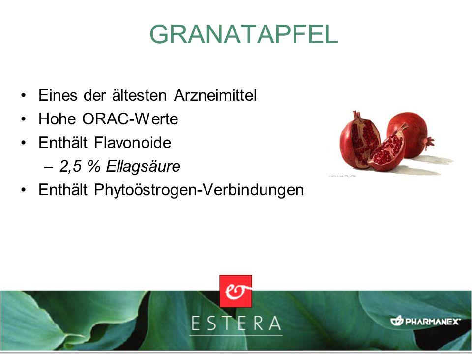 GRANATAPFEL Eines der ältesten Arzneimittel Hohe ORAC-Werte