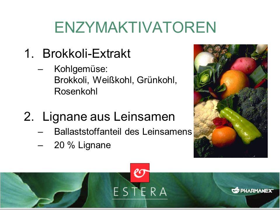 ENZYMAKTIVATOREN Brokkoli-Extrakt Lignane aus Leinsamen