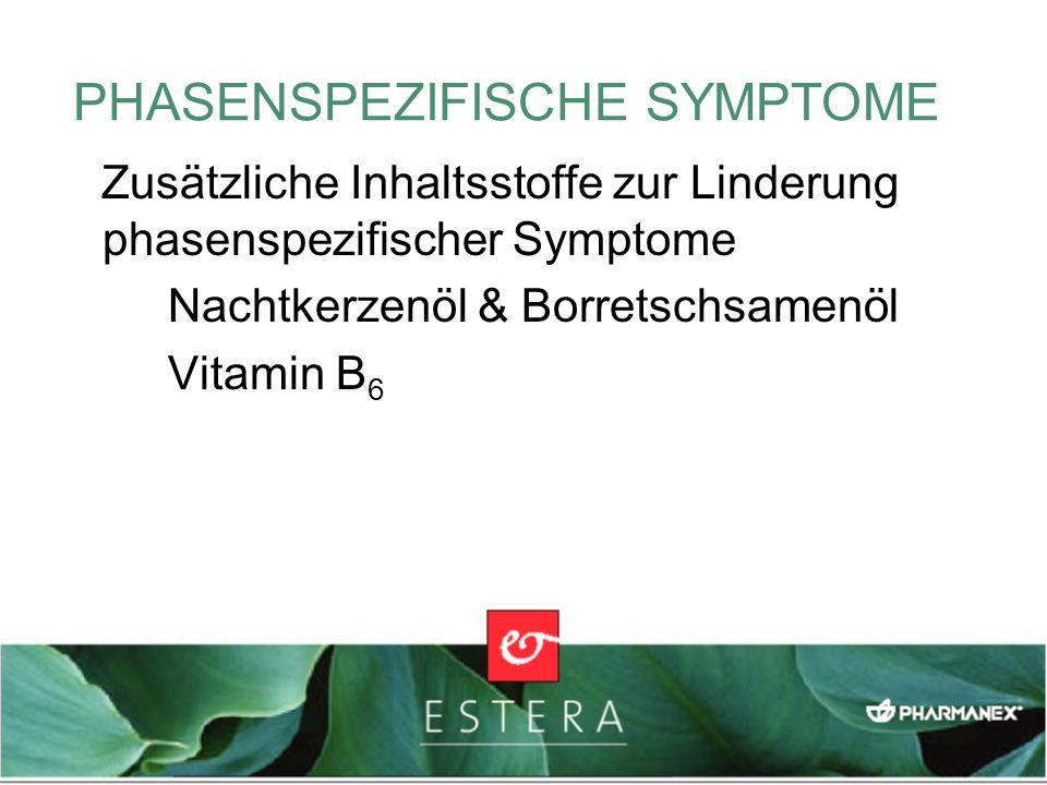 PHASENSPEZIFISCHE SYMPTOME