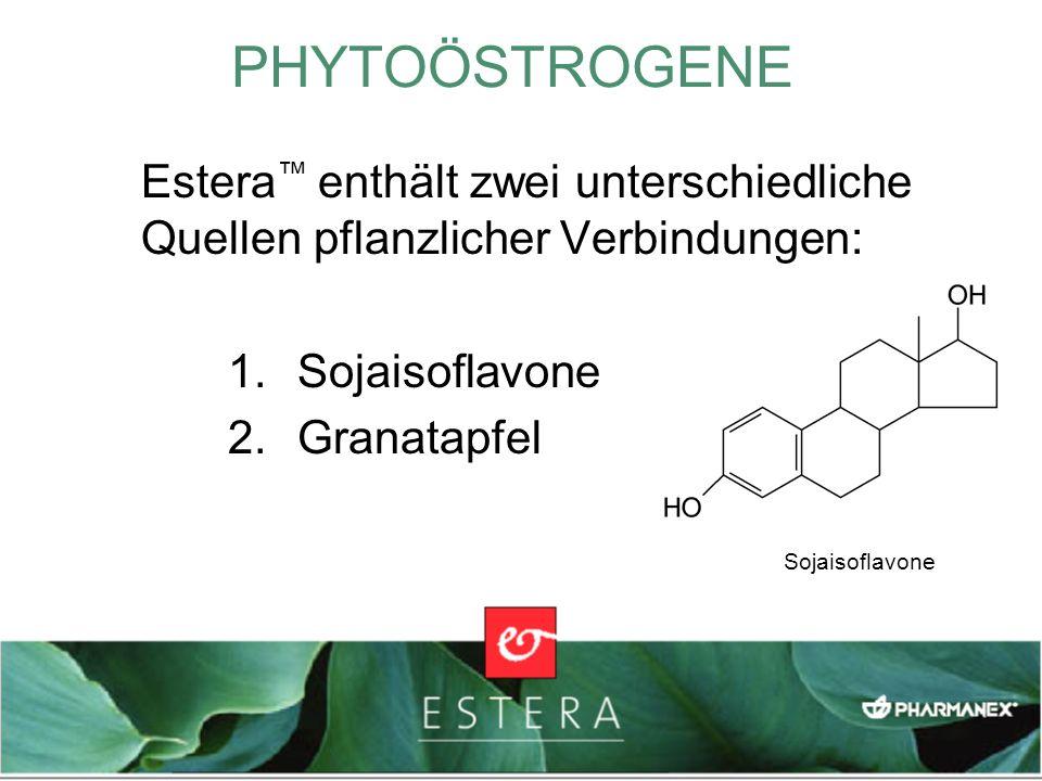 PHYTOÖSTROGENEEstera™ enthält zwei unterschiedliche Quellen pflanzlicher Verbindungen: Sojaisoflavone.
