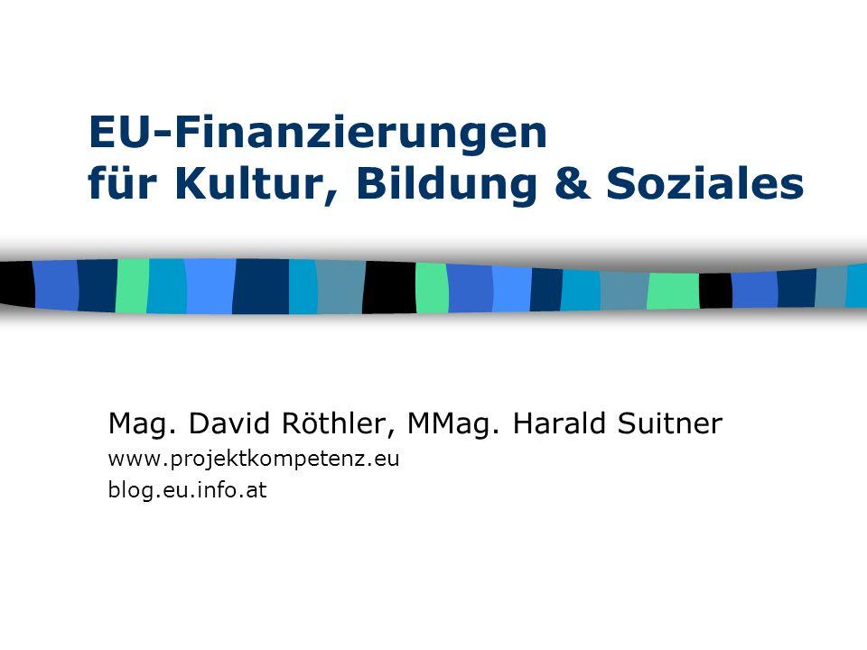 EU-Finanzierungen für Kultur, Bildung & Soziales