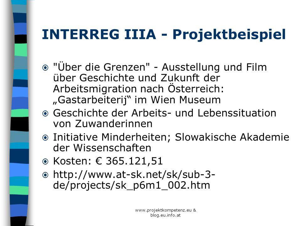 INTERREG IIIA - Projektbeispiel