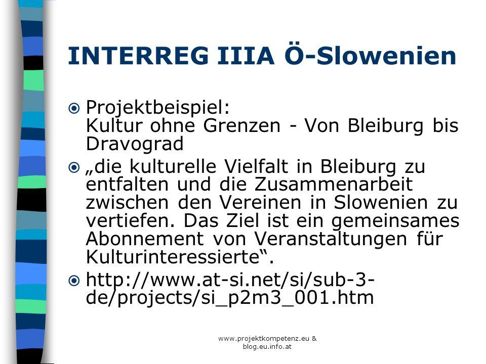 INTERREG IIIA Ö-Slowenien
