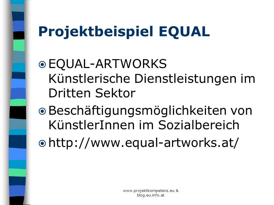 Projektbeispiel EQUAL
