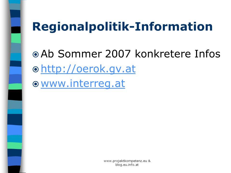 Regionalpolitik-Information