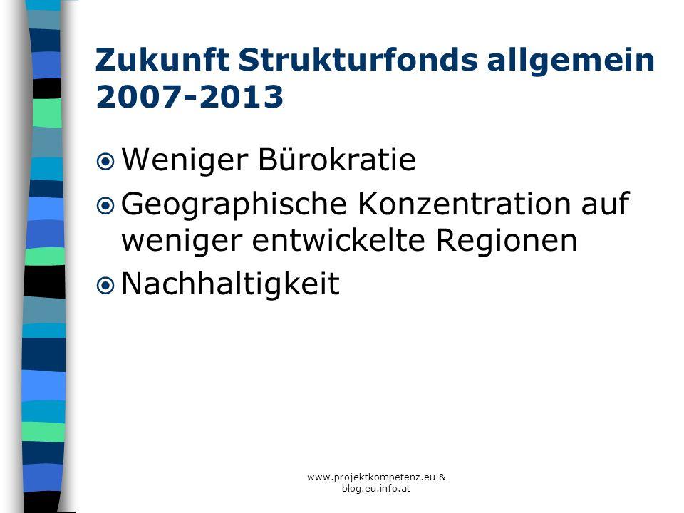 Zukunft Strukturfonds allgemein 2007-2013
