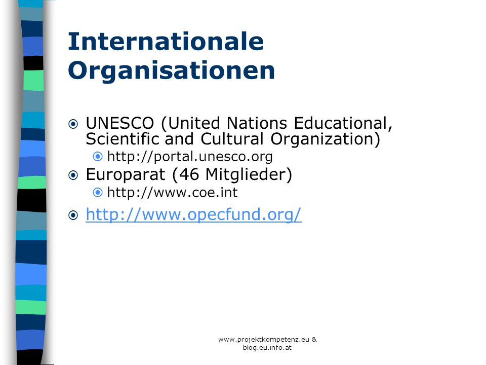 Internationale Organisationen
