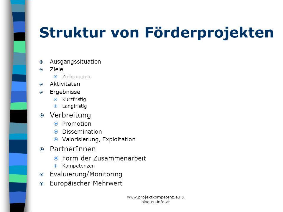 Struktur von Förderprojekten