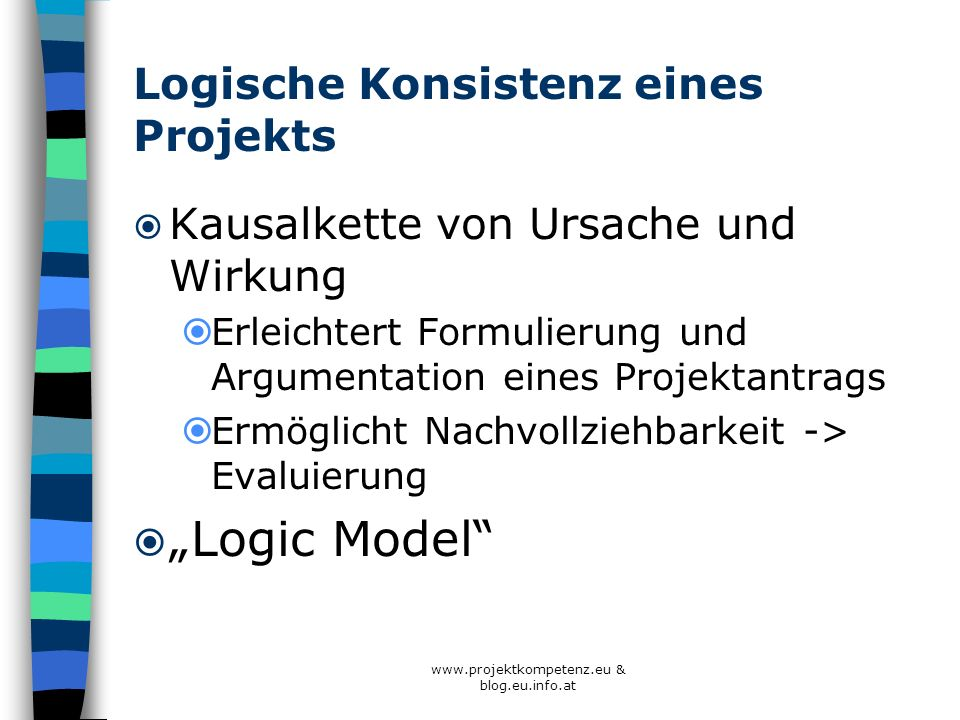 Logische Konsistenz eines Projekts