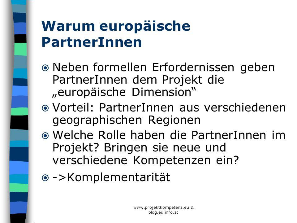 Warum europäische PartnerInnen