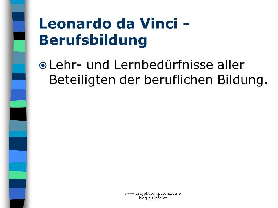 Leonardo da Vinci - Berufsbildung