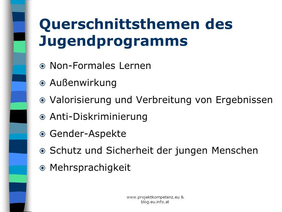 Querschnittsthemen des Jugendprogramms