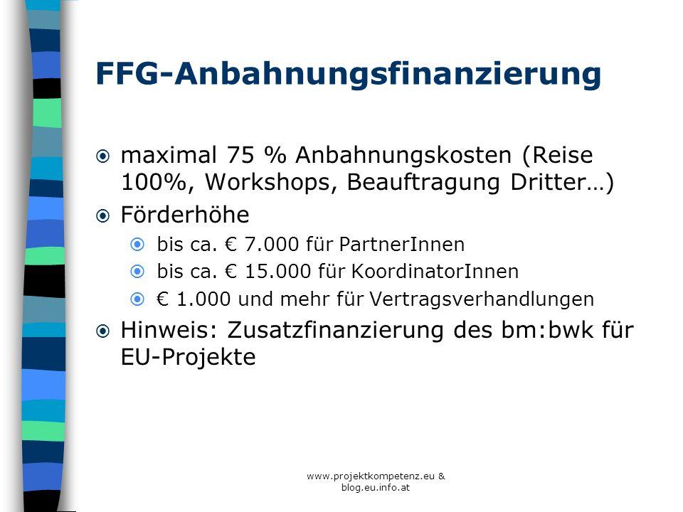 FFG-Anbahnungsfinanzierung