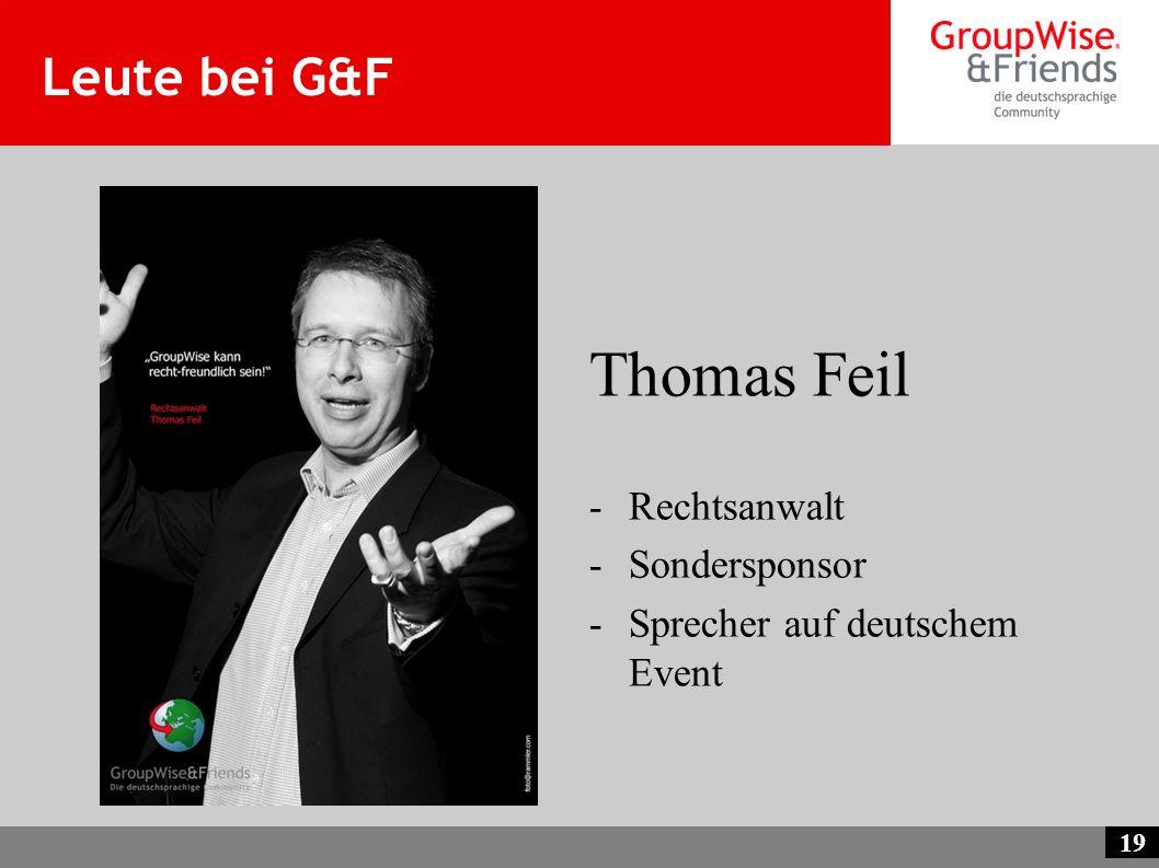 Thomas Feil Leute bei G&F Rechtsanwalt Sondersponsor