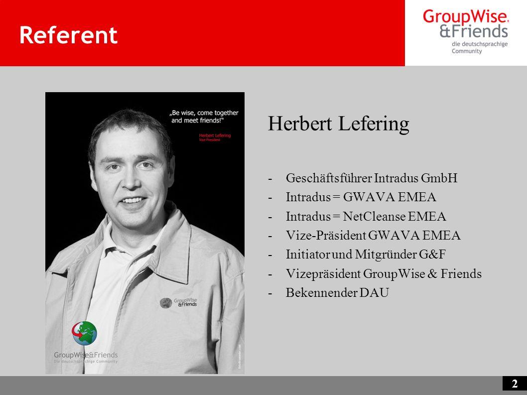 Referent Herbert Lefering Geschäftsführer Intradus GmbH