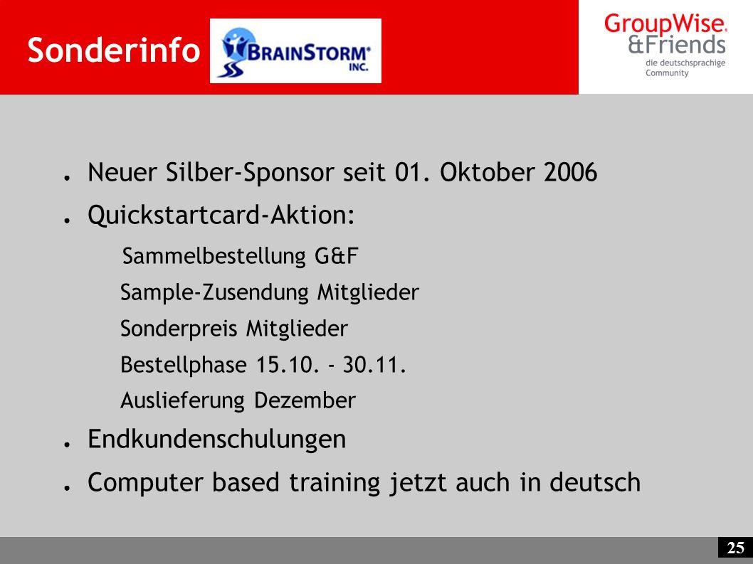 Sonderinfo Neuer Silber-Sponsor seit 01. Oktober 2006