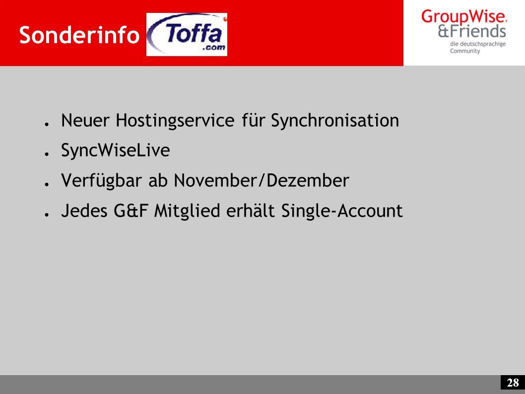 Sonderinfo Toffa Neuer Hostingservice für Synchronisation SyncWiseLive