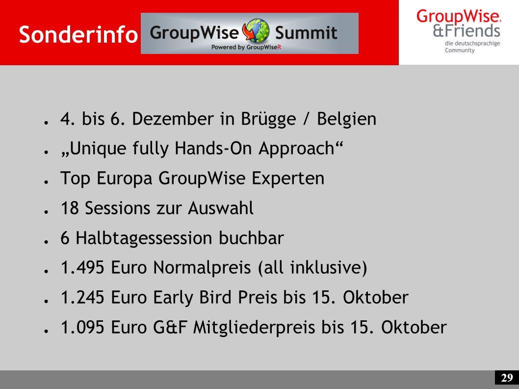 Sonderinfo GW EMEA Summit