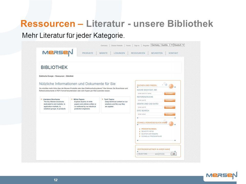 Ressourcen – Literatur - unsere Bibliothek
