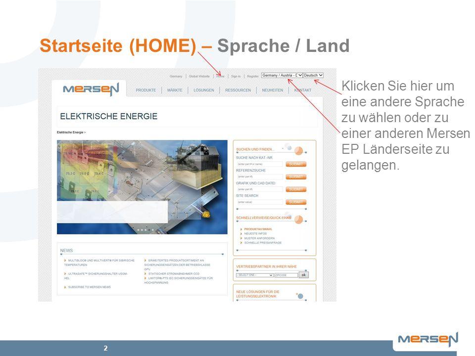 Startseite (HOME) – Sprache / Land