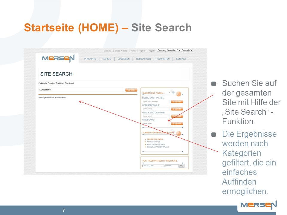 Startseite (HOME) – Site Search