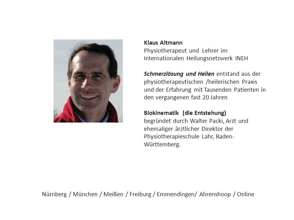 Klaus Altmann Physiotherapeut und Lehrer im Internationalen Heilungsnetzwerk INEH