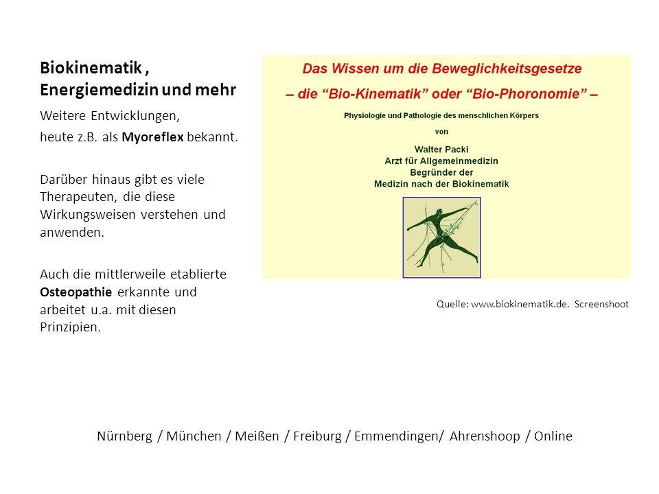 Biokinematik , Energiemedizin und mehr