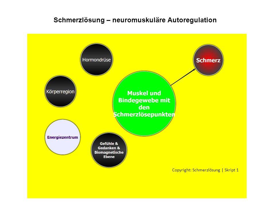 Schmerzlösung – neuromuskuläre Autoregulation