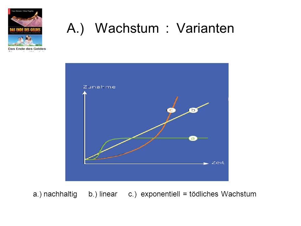 A.) Wachstum : Varianten