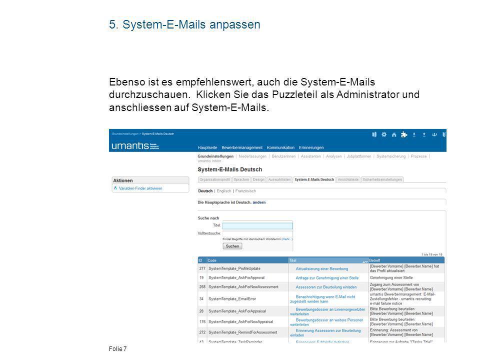 5. System-E-Mails anpassen