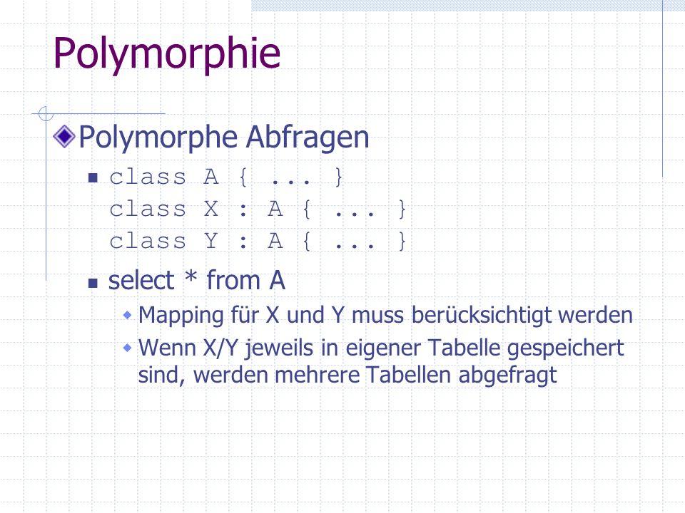 Polymorphie Polymorphe Abfragen