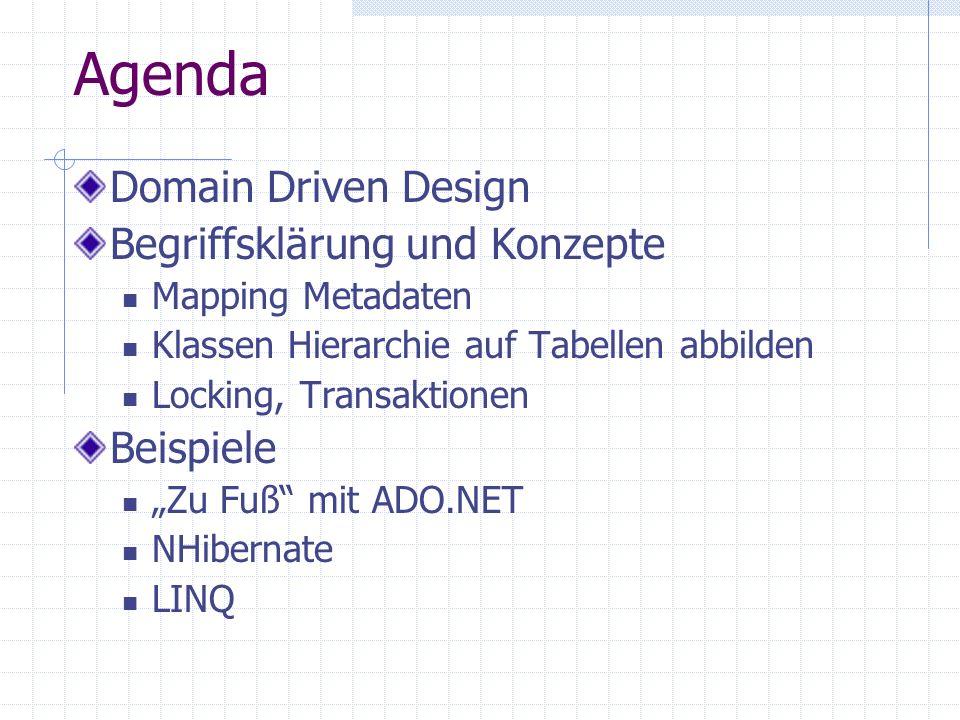 Agenda Domain Driven Design Begriffsklärung und Konzepte Beispiele