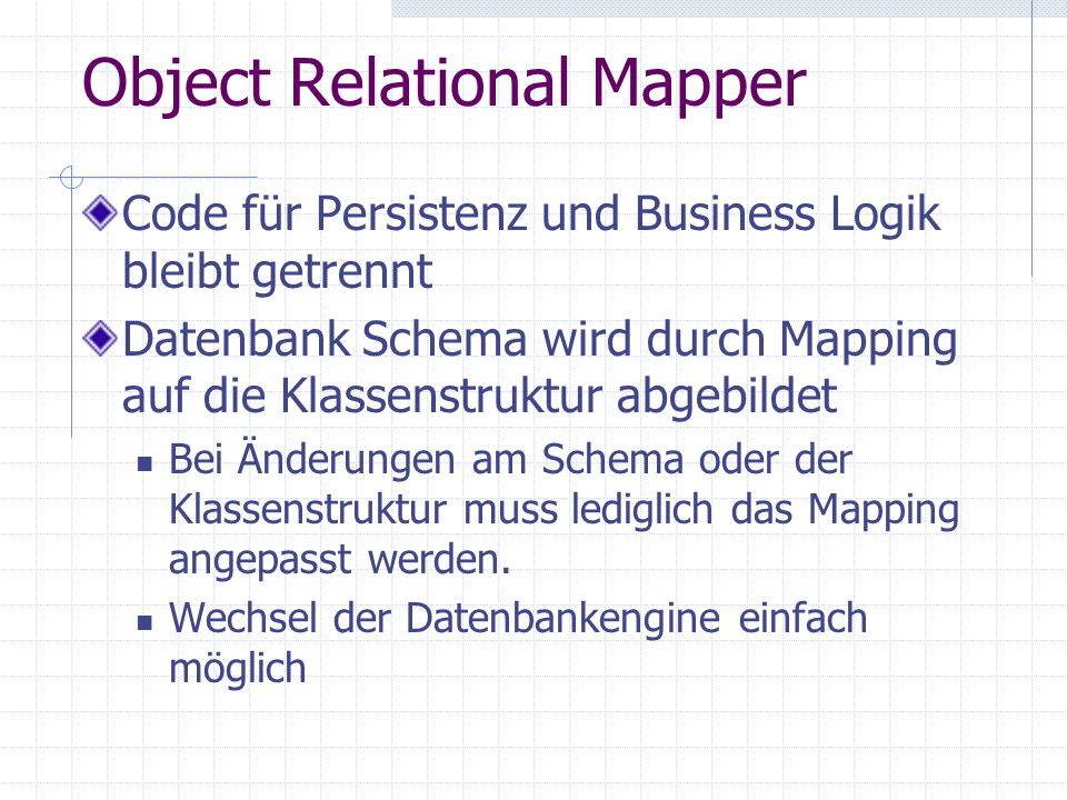 Object Relational Mapper