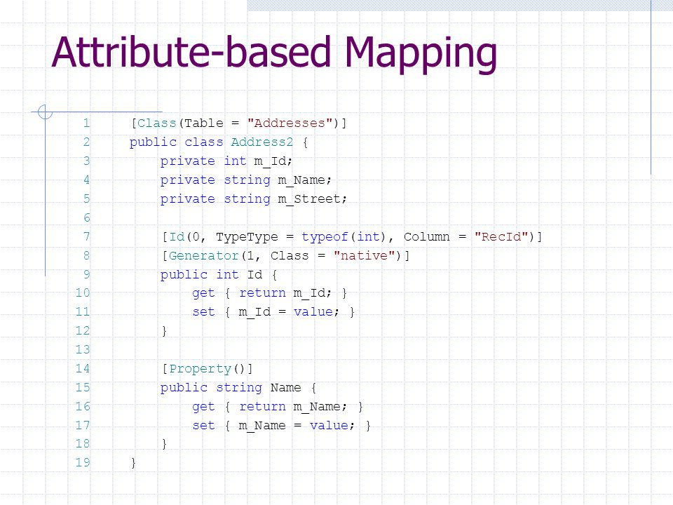 Attribute-based Mapping