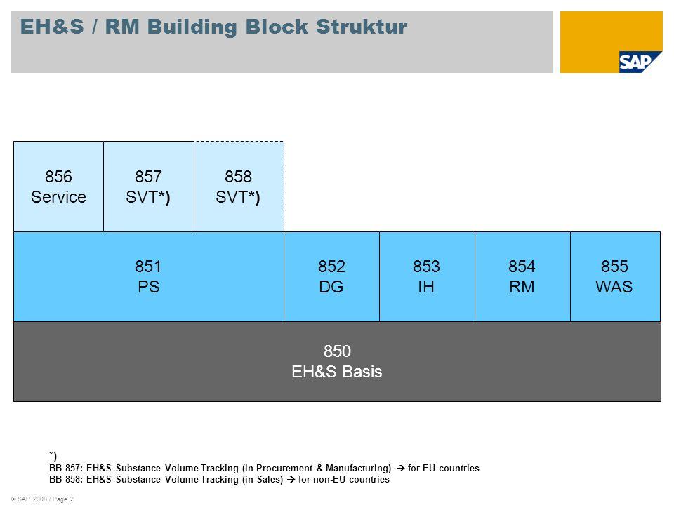 EH&S / RM Building Block Struktur