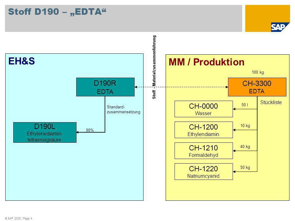 """EH&S MM / Produktion Stoff D190 – """"EDTA D190R CH-3300 CH-0000 D190L"""