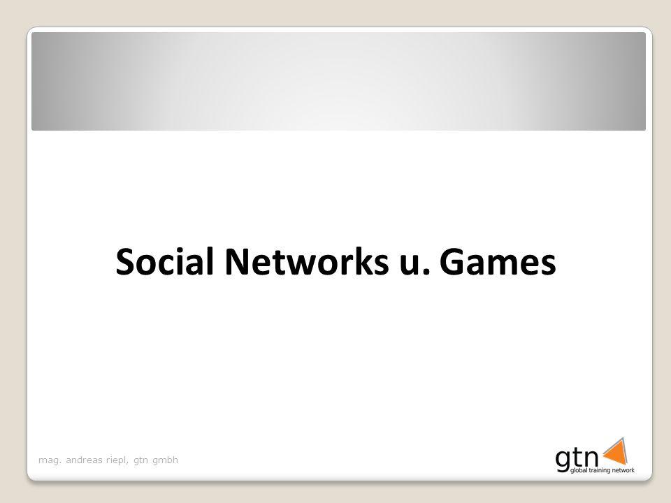 Social Networks u. Games