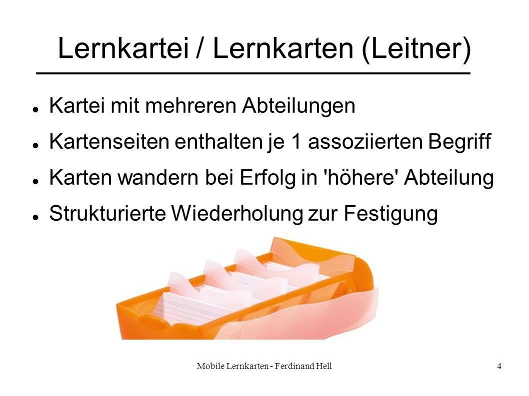 Lernkartei / Lernkarten (Leitner)