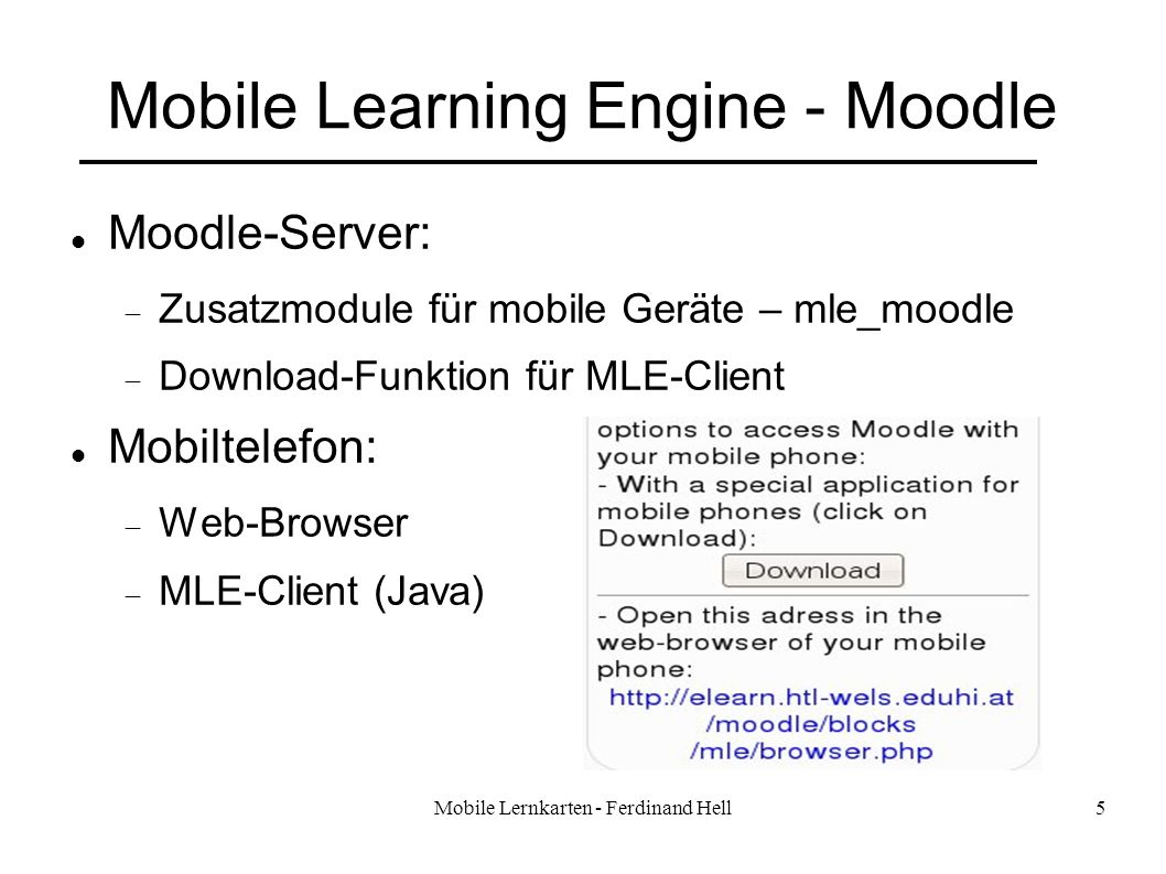 Mobile Learning Engine - Moodle