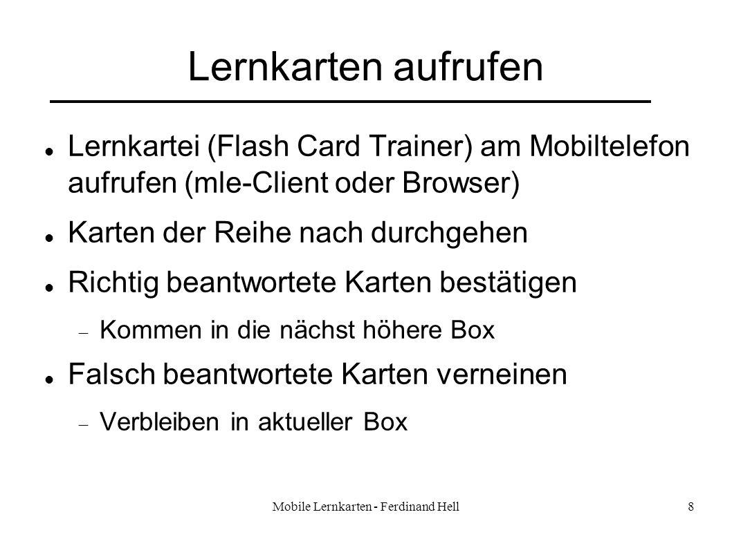 Mobile Lernkarten - Ferdinand Hell