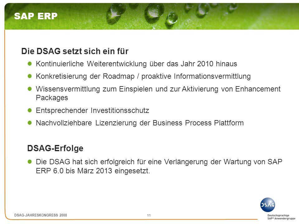 SAP ERP Die DSAG setzt sich ein für DSAG-Erfolge