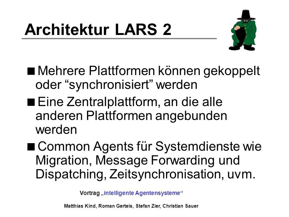 Architektur LARS 2 Mehrere Plattformen können gekoppelt oder synchronisiert werden.