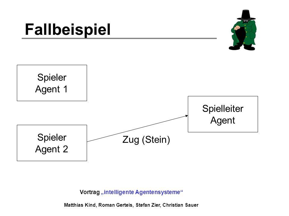 Fallbeispiel Spieler Agent 1 Spielleiter Agent Spieler Zug (Stein)
