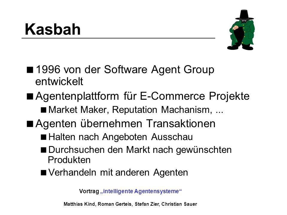 Kasbah 1996 von der Software Agent Group entwickelt